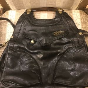 Betsey Johnson black leather purse